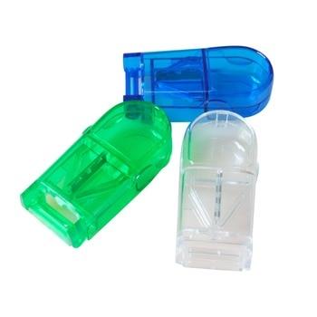 6 unids/pack Mini caja DE CORTADOR de pastillas portátil para tabletas de medicamentos soporte de pastillas organizador de almacenamiento caja de contenedores Splitters para saludable