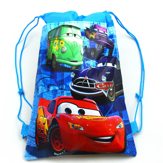 0a3eafc36e9 Disney Cars 1pcs Theme Lightning McQueen Non-woven Bag Fabric Backpack  Child Travel School Bag Decoration Drawstring Gift Bag
