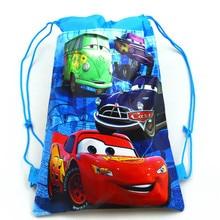 Disney Cars 1pcs Theme Lightning McQueen Non woven font b Bag b font Fabric Backpack Child