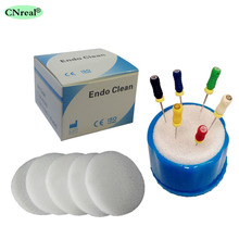 1 pc Endo Cleaning Block & 5 pcs Sponge Mat for Dental Laboratory Small Size
