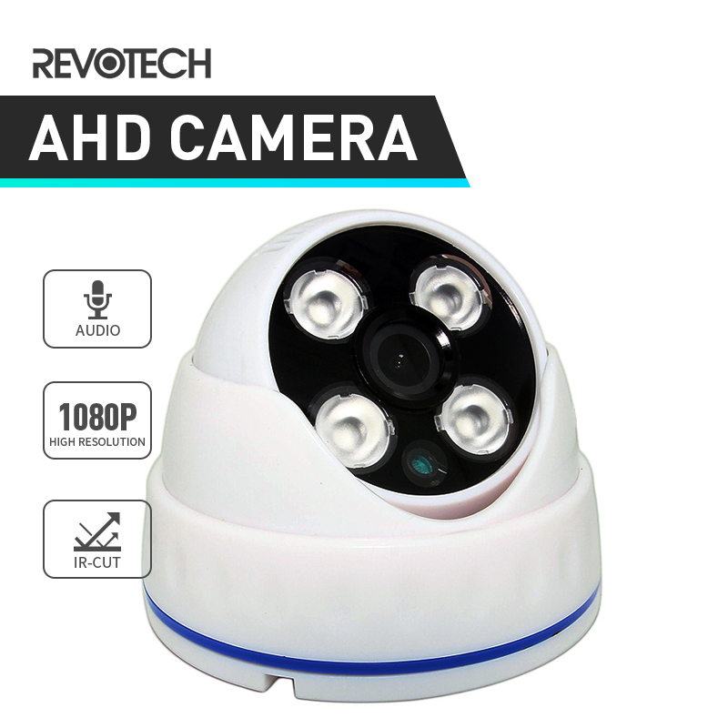 bilder für Audio AHD 1920x1080 P 2.0MP 4 Array LED IR Nachtsicht Dome CCTV Indoor Kamera Sicherheit Weiß Cam mit IR-Cut (A334W)