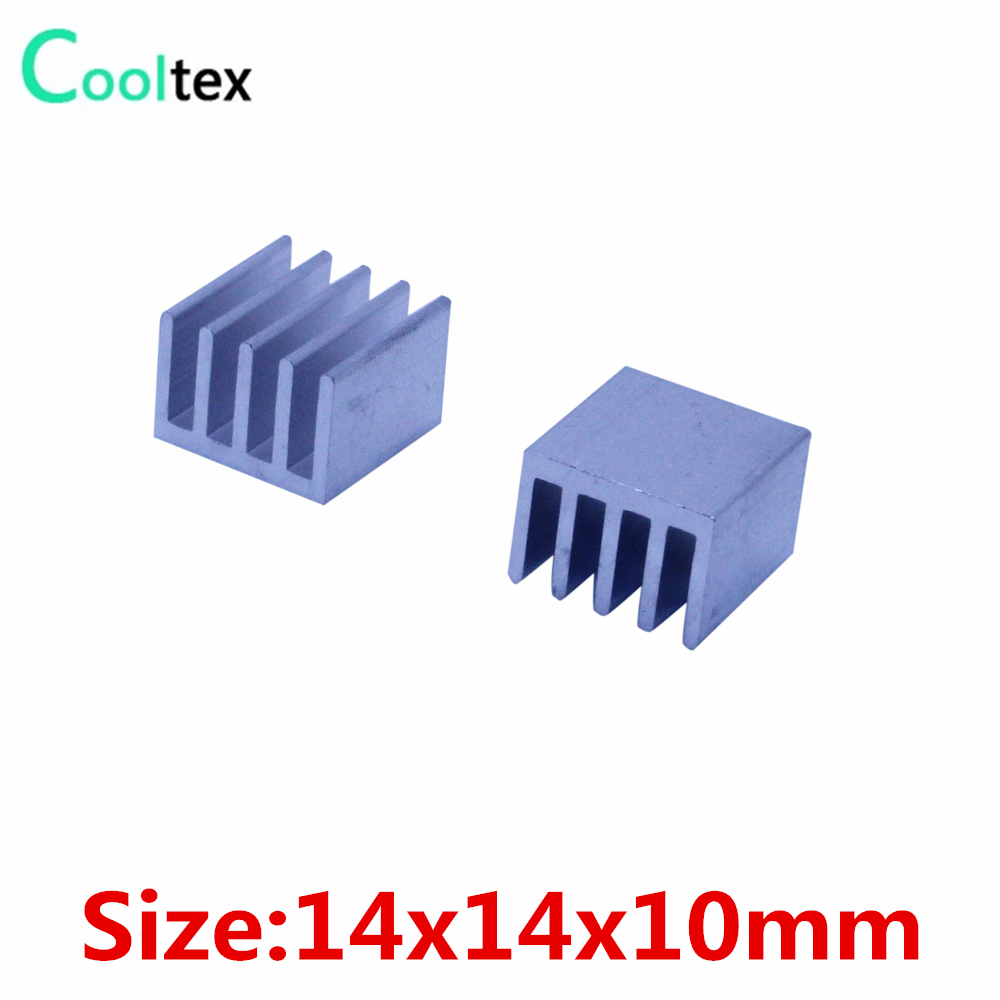 14x14x10mm Aluminum Heatsink Radiator Heat Sink For Ic Electronic Integrated Circuit Electronics 500pcs Lot Cooling Cooler