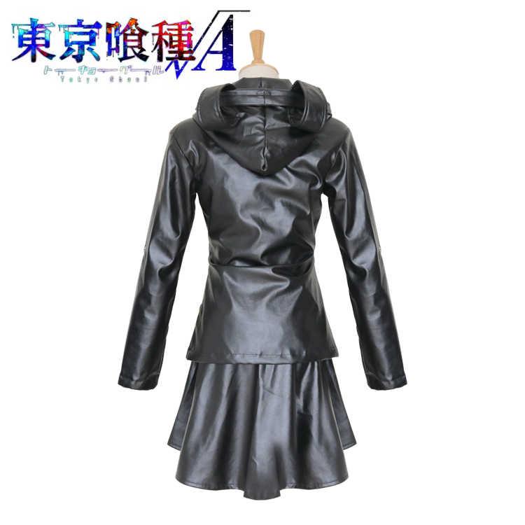 Аниме Токийский Гуль тоука киришима форма Костюмы для косплея полный набор кожа Костюмы (куртка + юбка + Чулки для женщин)