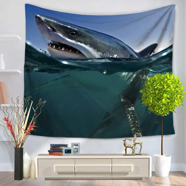Shark Print Wall Tapestry 2
