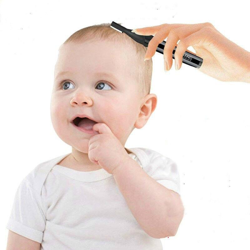 1 قطعة منتجات العناية بالأطفال الطفل مقص الشعر البسيطة الكهربائية لا تشوبه شائبة الشعر مزيل للطفل و الأطفال حلاقة المنزل-استخدام # Y