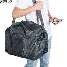Wasserdichte Nylon Sportsing Reisetaschen Unisex Faltbare Reisetasche Handgepäck Tasche Große Kapazität Mode Faltung Schultertasche