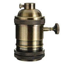 Горячая старинный держатель лампы E27 основание Лампы Фитинги блеск держатели ламп Алюминиевый держатель лампы Промышленные Ретро подвесные света