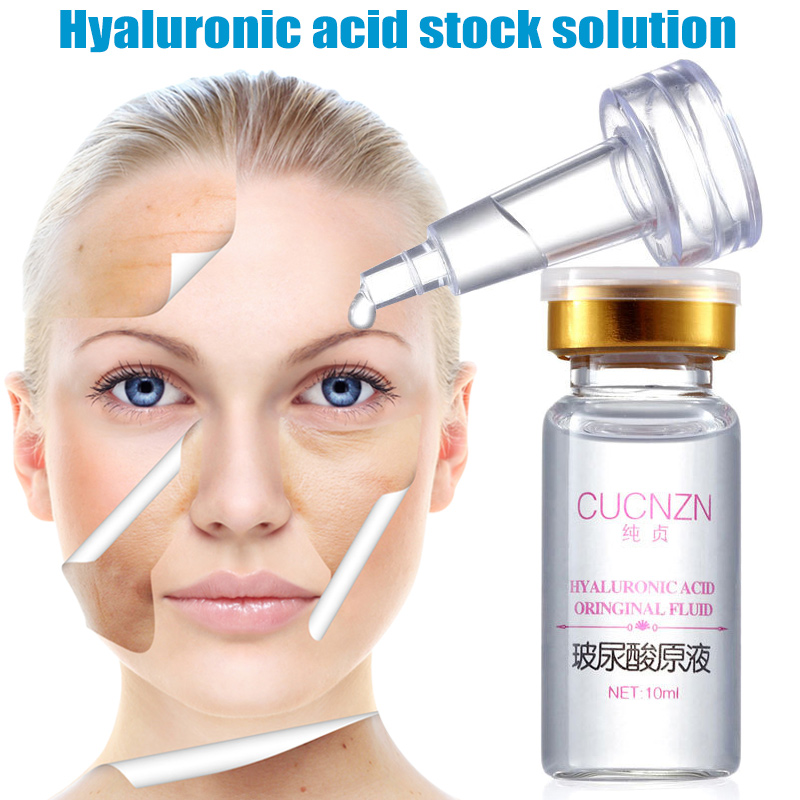 2018 100% Pure Firming HYALURONIC ACID SERUM Anti-Aging Wrinkles-Intense Hydration 10ml Face Serum