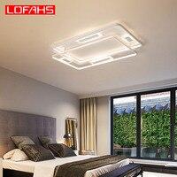 LOFAHS современный светодиодный потолочный светильник новый дизайн Алюминиевый полосной потолок лампа для гостиной столовой спальня блеск