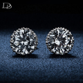 Crown Stud Earrings classic jewelry for women Fashion white gold plated CZ diamond brincos vintage wedding earrings dse001