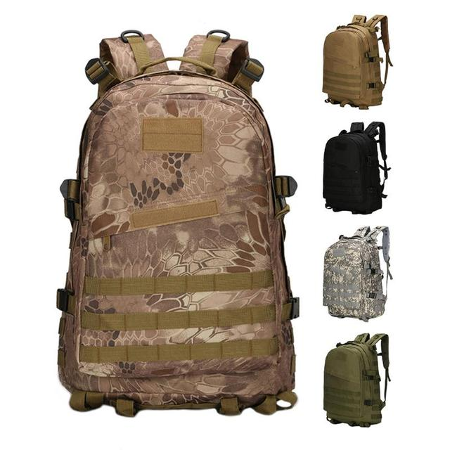 b4a63d6378de Outdoor Sports Bags Military 3D Tactical Backpack 40L Camouflage Oxford  Waterproof Outdoor Camping Climbing Sports Backpacks