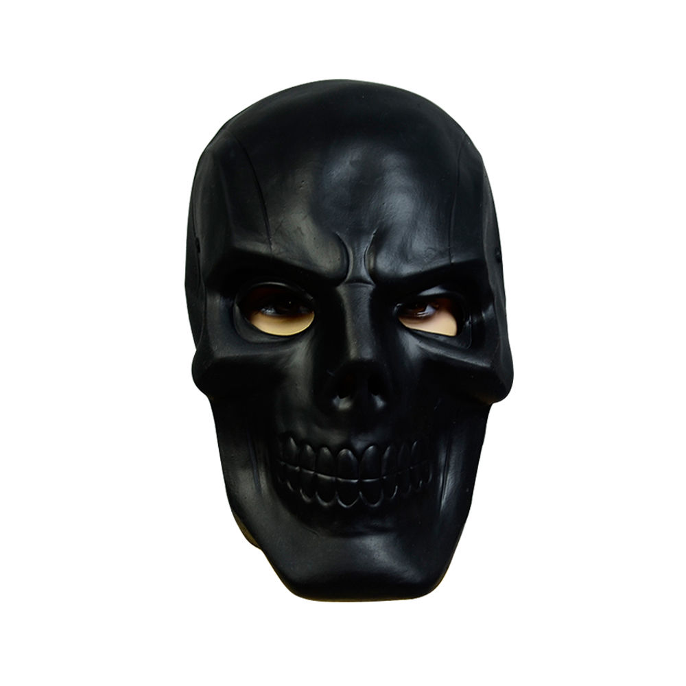 Batman Arkham Origins Roman Sionis Cosplay Costume Suit Black Skull Mask Helmet