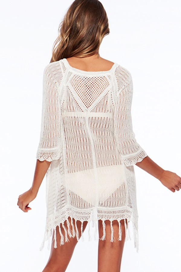 New 17 Beach Tunic Sexy Cover Up Women Beach Blouse Crochet Pareo Swimsuit Cover-ups Beach Dress Summer Beach Wear Swimwear 7