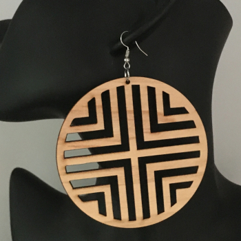 Wooden 3 Inch Round Earrings55