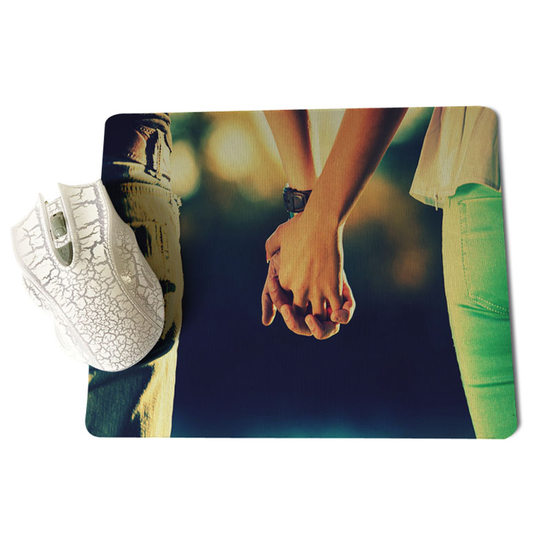 Babaite Vintage Cool Boy And Girl Love Computer Gaming Mousemats Size for 18x22cm 25x29cm Rubber Mousemats