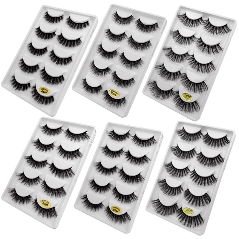 3592a5bc506 30 pairs/lot natrual 3d mink lashes false lashes bulk fluffy 3d mink  eyelashes false lashes kit 6 packs eyelashes for maquiagem