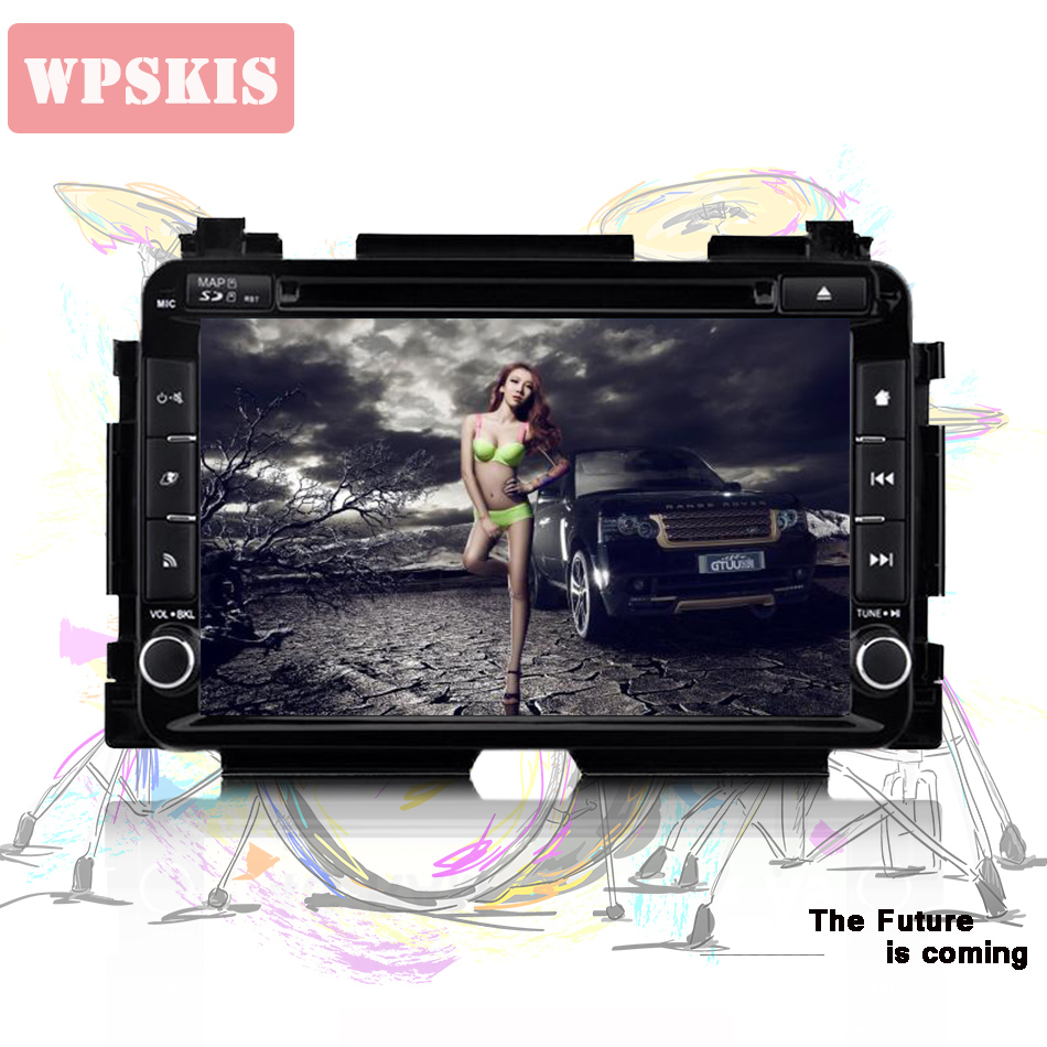 4GB android 10.0 car dvd <font><b>gps</b></font> player for <font><b>honda</b></font> HR-V <font><b>HRV</b></font> XRV Vezel 2013-2018 with radio navigation Tape Recorder steering wheel image