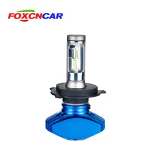 FOXCNCAR H7 H4 светодиодный 6500 K для автомобильных фар безвентиляторный CSP 8000LM 80 W 12 V холодный белый H1 H3 H4 H7 H8 9005 HB3 9006 HB4 Hi Lo луч