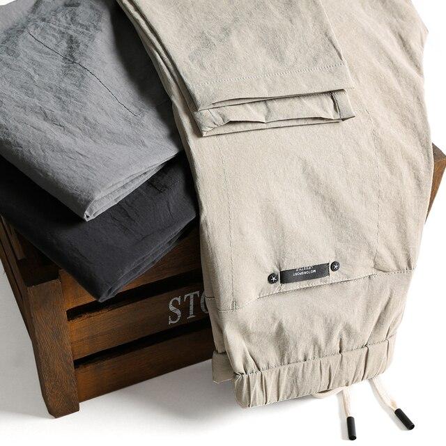 Brands Men pants 2020 New Design Casual hombres pantalones Cotton Slim Pant male Trousers Fashion Business Tie Pants Man 40