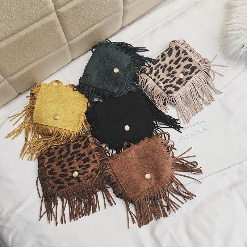 Women 2019 Fashion Baby Girls Mini Messenger Bag Cute Tassel Design Kids Coin Purses Children Handbags Shoulder Bags