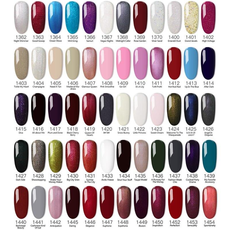 290 cores da moda disponíveis para salão de beleza gel polonês