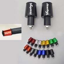 CNC 22mm Tampa Guiador Grips Handle Bar End Plugs para Honda Varadero com Logotipo (Varadero)