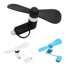 Binful 100% Tested Mini 2 In 1 Portable Micro Usb Fan For Iphone 5 6s 7 Plus 8 X Xs Xr Fan For Samsung Htc Android Otg Phones цена 2017