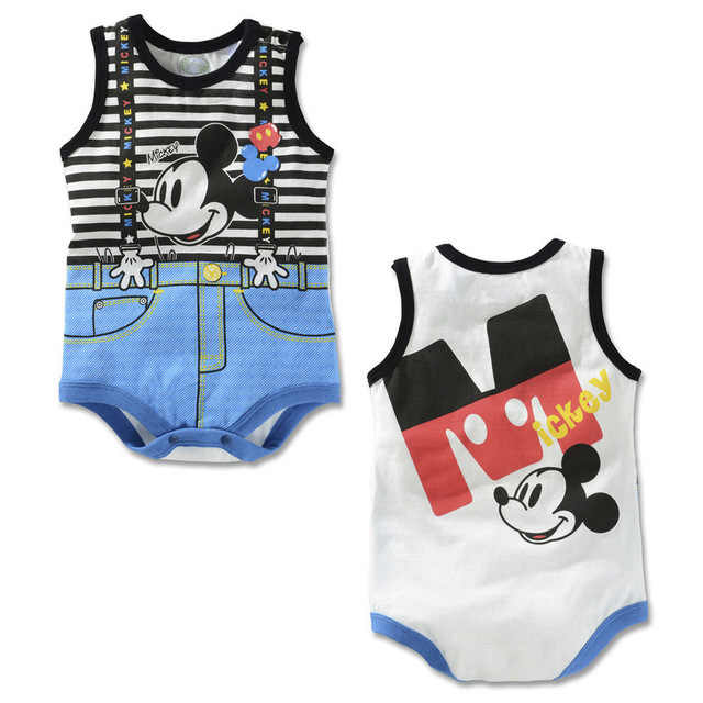 Disney Mickey Mouse Baby rompers cartoon Bodysuits Minnie baby boy girl One-Pieces summer spring autumn newborn cotton rompers