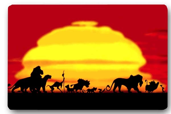 aplysia room rug door mats lion king sunset print 40x60cm