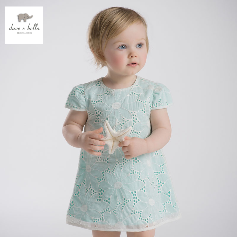DB2575 dave bella summer baby lace dress infant clothes girls birthday dress fairy dress toddle 1 pc kid Lolita dress db5498 dave bella baby girl lolita dress stylish printed peter pan collar dress toddler children dress