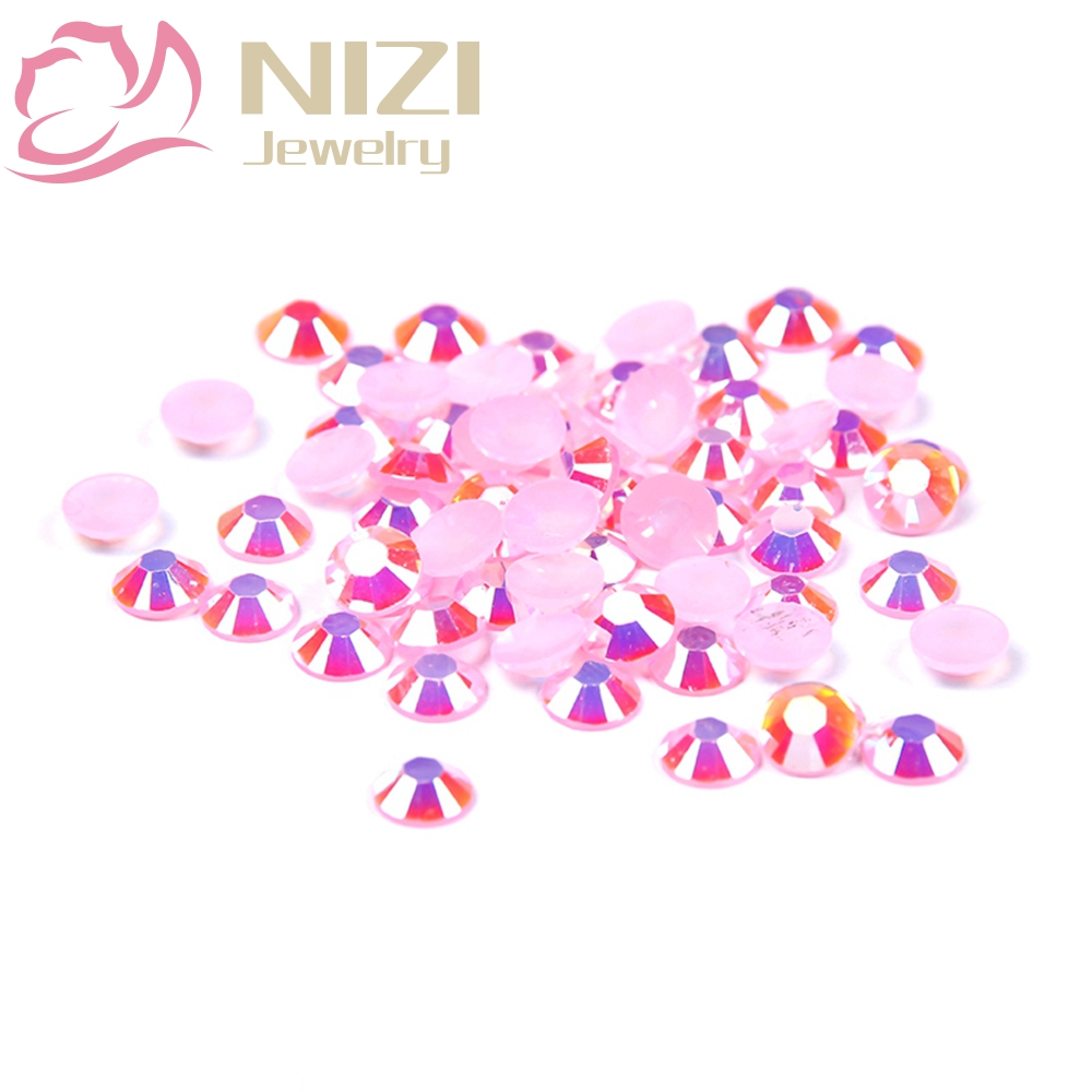 Flatback New Design Resin For 3D Nail Art Decorations DIY Rhinestones 2-6mm Light Pink AB Color Glitter Crystal Non Hotfix Beads автоинструменты new design autocom cdp 2014 2 3in1 led ds150