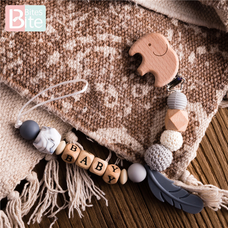 Bite Bites 1pc Baby Silicone Pacifier Clips Chain Cartoon Elephant Teething Chain Baby Teether Soother Dummy Clips Birth Gift