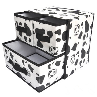 Free shipping Smoke desktop non-woven underwear storage box drawer storage box cosmetics drawer storage box