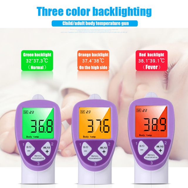LCD Digital Non-contact IR Infrared Thermometer to guage Forehead and Body Temperature