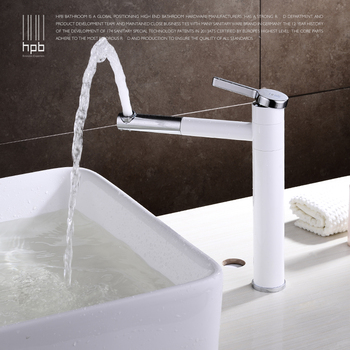 copper cold  white color basin faucet  heightening