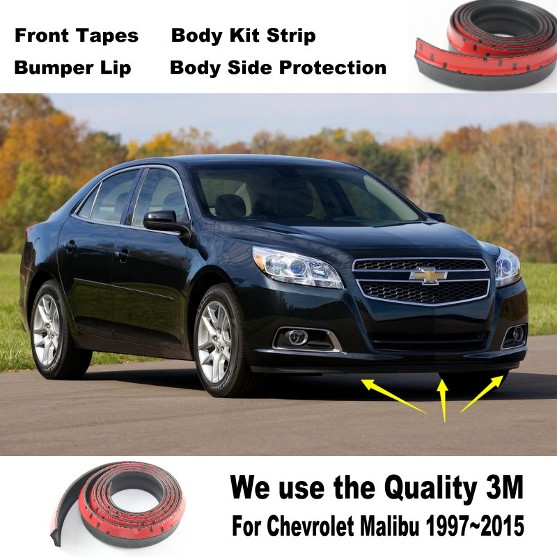 For Chevrolet Classic Malibu Omega Spark Volt Joy Car Bumper Lip Body Kit Front Rear Skirt Spoiler Deflector Rubber Strip