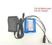 VariCore Nouvelle 12 V 3000 mAh 18650 Lithium Ion Batterie CCTV Caméra Batterie 12.6 V à 11.1 V DC: 5.5*2.1mm + 12.6 V 1A Chargeur
