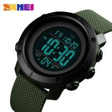 SKMEI-reloj Digital para hombre, cronómetro para deportes al aire libre, doble horario, resistente al agua, 1434, 1435