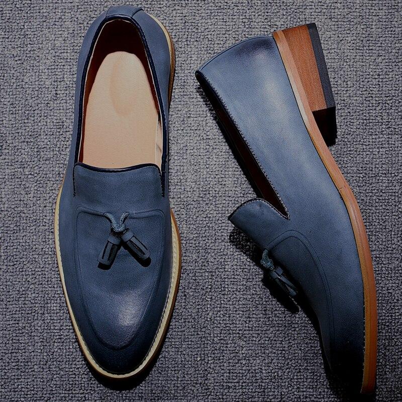 bleu Social Cuir Mx8118281 Homme De Mode Chaussures Luxe Designer orange Noir Marque Hommes En qYw6wA7U