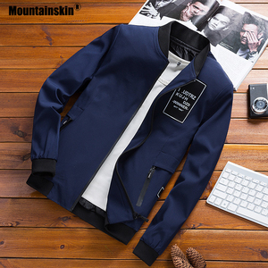 Image 3 - Mountainskin מעילי Mens טייס מפציץ מעיל זכר אופנה בייסבול היפ הופ Streetwear מעילי Slim Fit מעיל מותג בגדי SA680