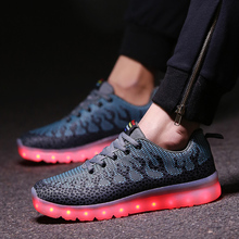 Men Led Shoes For Adults With Light  Casula Trainers Glow Tenis De Led Usb  Luxury Brand Shoe Breathable Air Chaussures Hommes