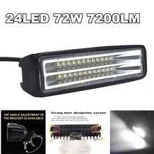 12V 72W SPOT LED Off road Work Light Lamp For Driving ATV UTE 4WD SUV Boat Truck