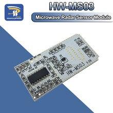 Высокая производительность датчик движения HW-MS03 2,4 ГГц до 5,8 ГГц микроволновый радар индукции человеческого тела PIR переключатель модуль для Arduino Diy