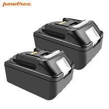 Powtree For Makita 2PCS 18V 4000mAh BL1830 Power Tools Lithium Battery Replacement BL1815 BL1840 BL1850 BL1860 LXT400  194309-1 цена и фото