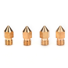 New RepRap 3D Printer Brass Nozzle 0.2/0.3/0.4/0.5 For 1.75mm / 3mm Filament