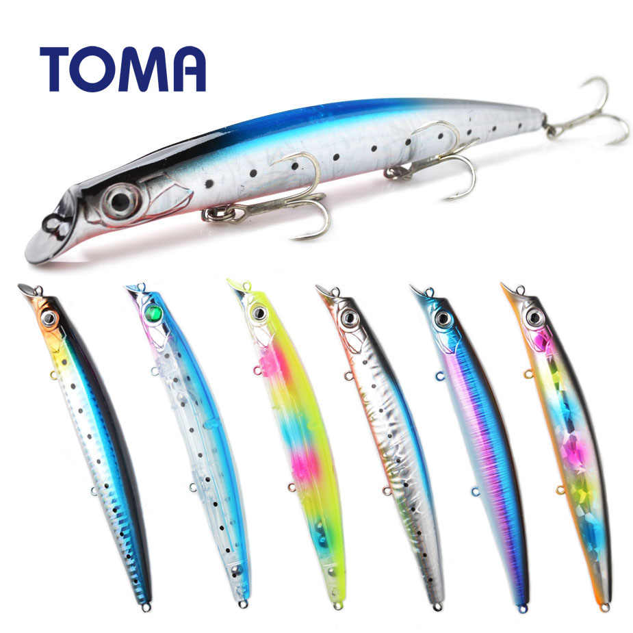 TOMA Wobbler Popper 140mm 19g Topwater Fishing Lure Hard Crankbait Pike Floating Popper Artificial Bait Fishing Tackle