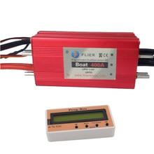 Hv 22 s 400a impermeável esc blushless para rc barco hidrofoil prancha elétrica com caixa de programa