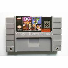 Super nintendo sfc/snes ms24 5 en 1 cartucho de juego de consola de video ntsc tarjeta de ee.uu. versión inglés idioma colección