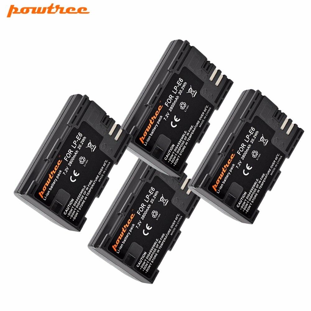 2 pack Caméra Batterie LP-E6 LPE6 LP E6 Batterie De Remplacement Pour Canon 5D Mark II Mark III EOS 6D 7D 60D 60Da 70D 80D DSLR L10