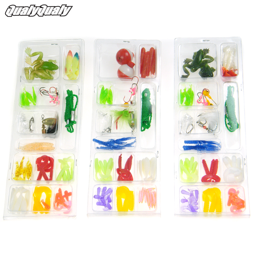 52Pcs/Lot Fishing Frog Lures Spinner Metal With Feather Jigs Head Hook Bait Fishing Tackle Utility Set Kit Soft Lure Baits Tail 3pcs lot fishing lures mixed set minnow crankbaits topwater popper hook lure spinner baits crankbait bass wobbler tackle hook